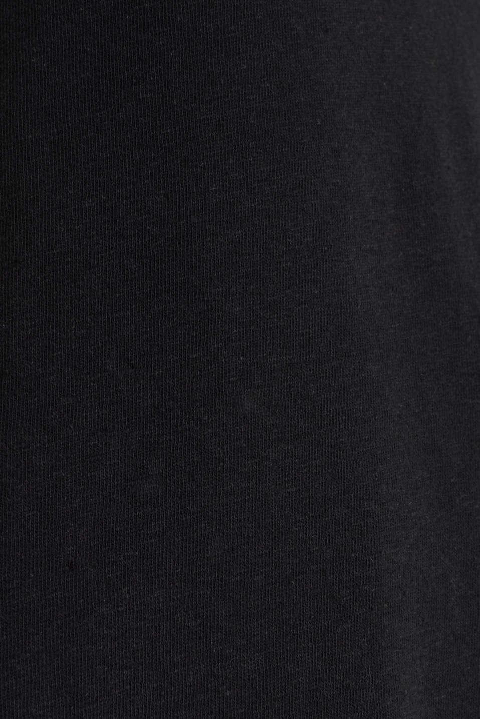 Linen blend: V-neckline top, BLACK, detail image number 4