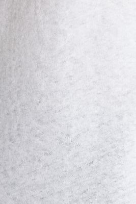 Linen blend: V-neckline top, WHITE, detail