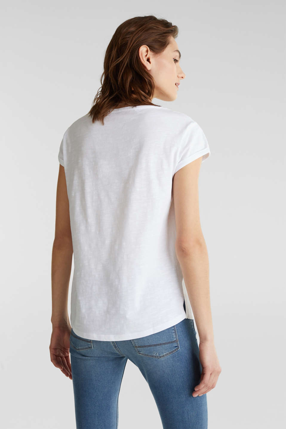 Slub top made of 100% organic cotton, WHITE, detail image number 3