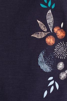 Slub top made of 100% organic cotton, NAVY, detail