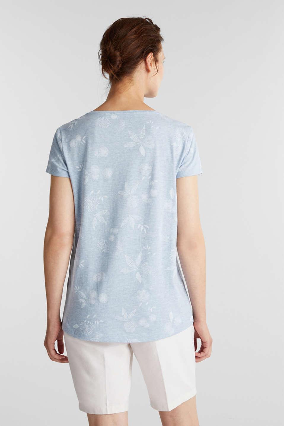 Melange print top with organic cotton, LIGHT BLUE, detail image number 3