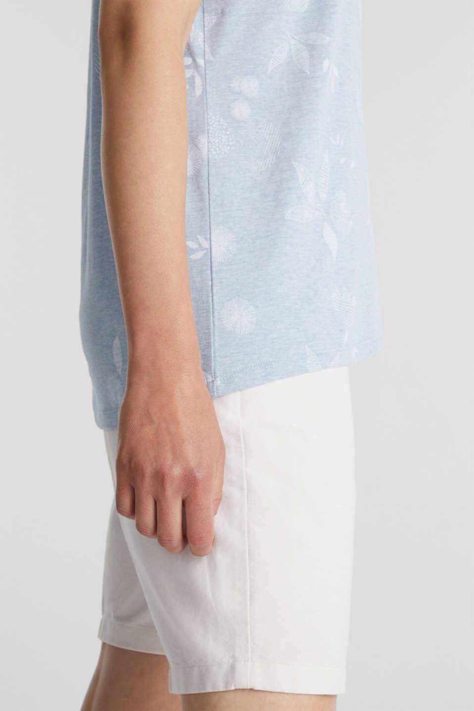 Melange print top with organic cotton, LIGHT BLUE, detail image number 2