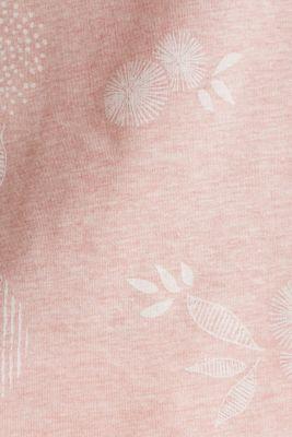 Melange print top with organic cotton, PEACH, detail