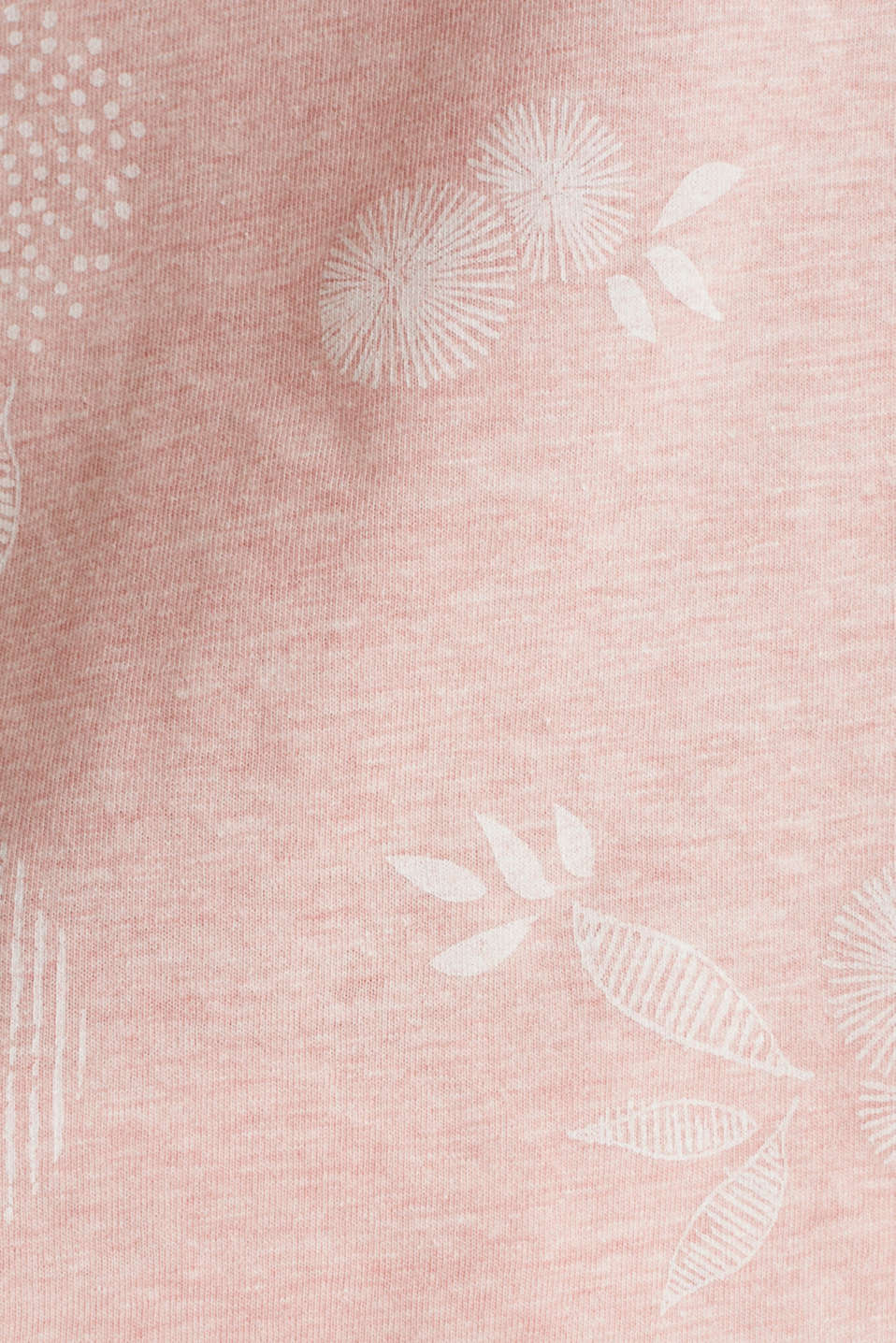 Melange print top with organic cotton, PEACH, detail image number 4
