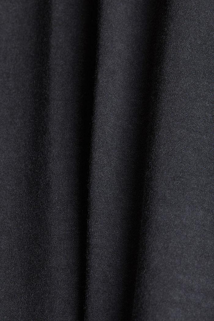 T-Shirt mit Spitzen-Besatz, ANTHRACITE, detail image number 4
