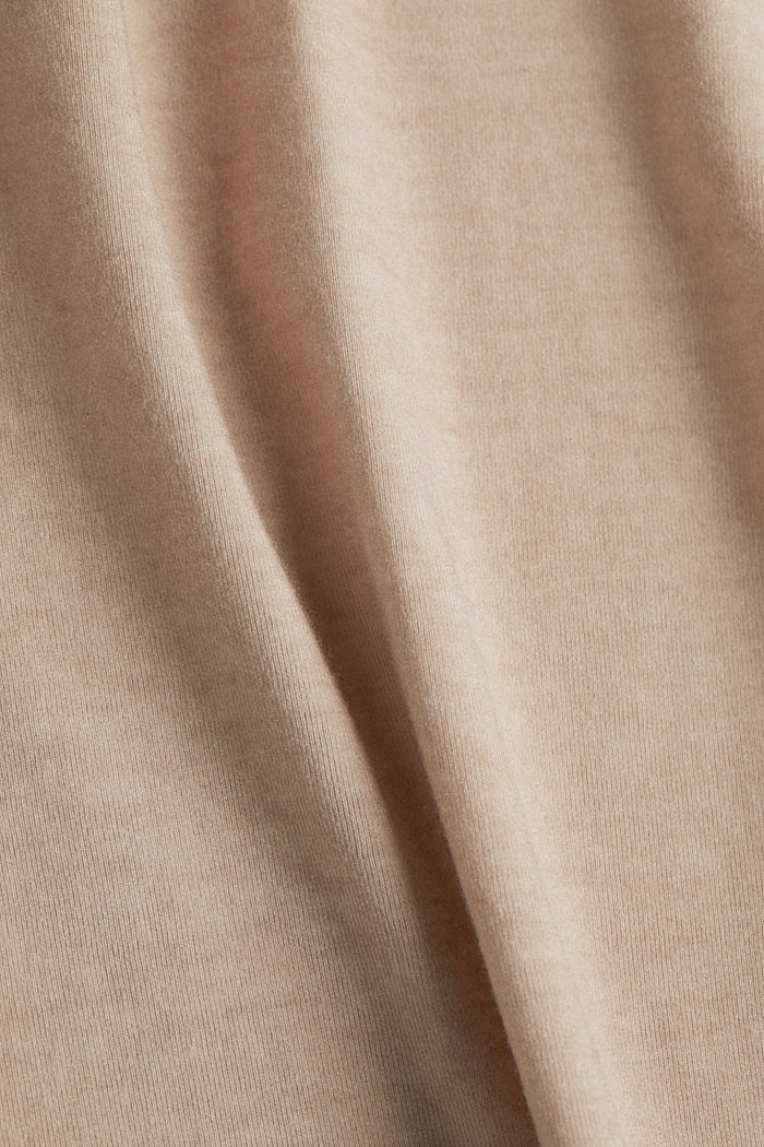 T-shirt with a lace trim, LIGHT TAUPE, detail image number 4