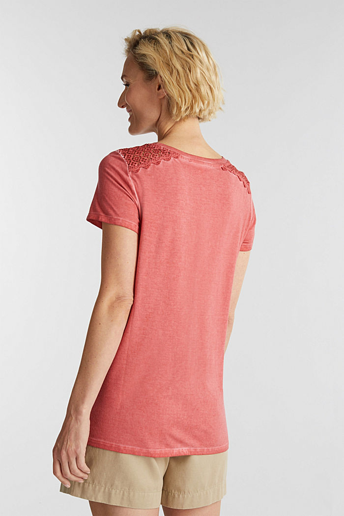 T-shirt with a lace trim, RED, detail image number 3
