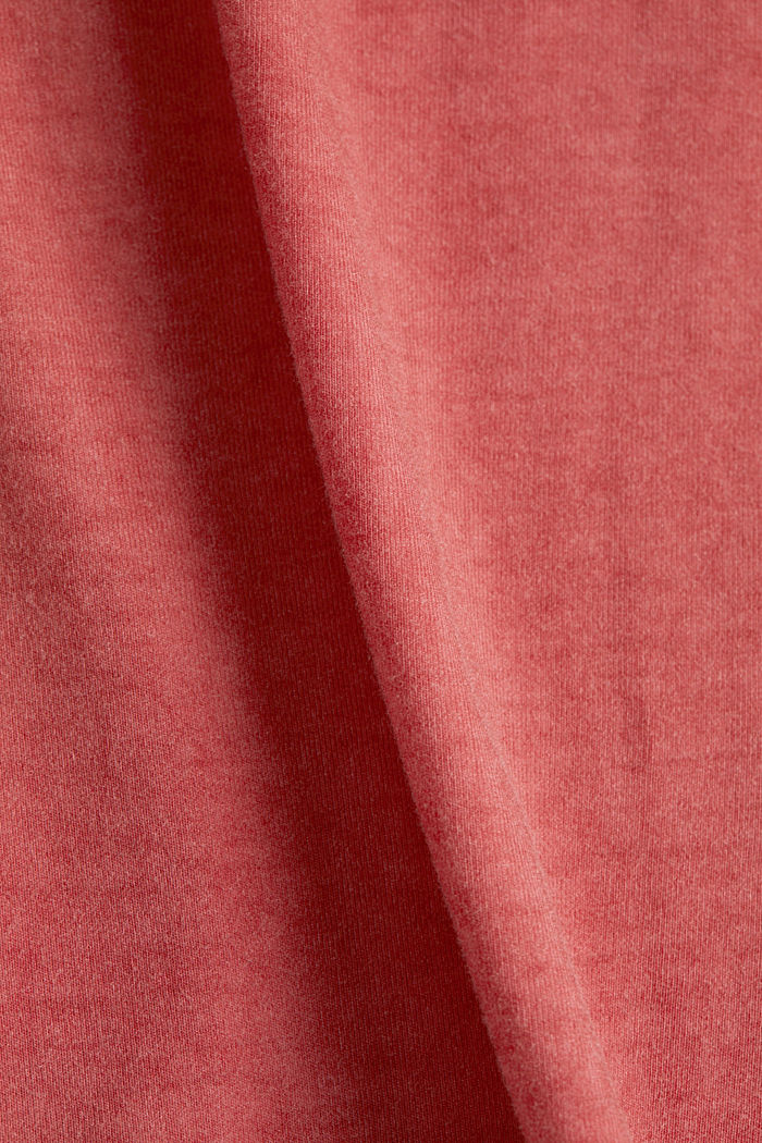 T-shirt with a lace trim, RED, detail image number 4