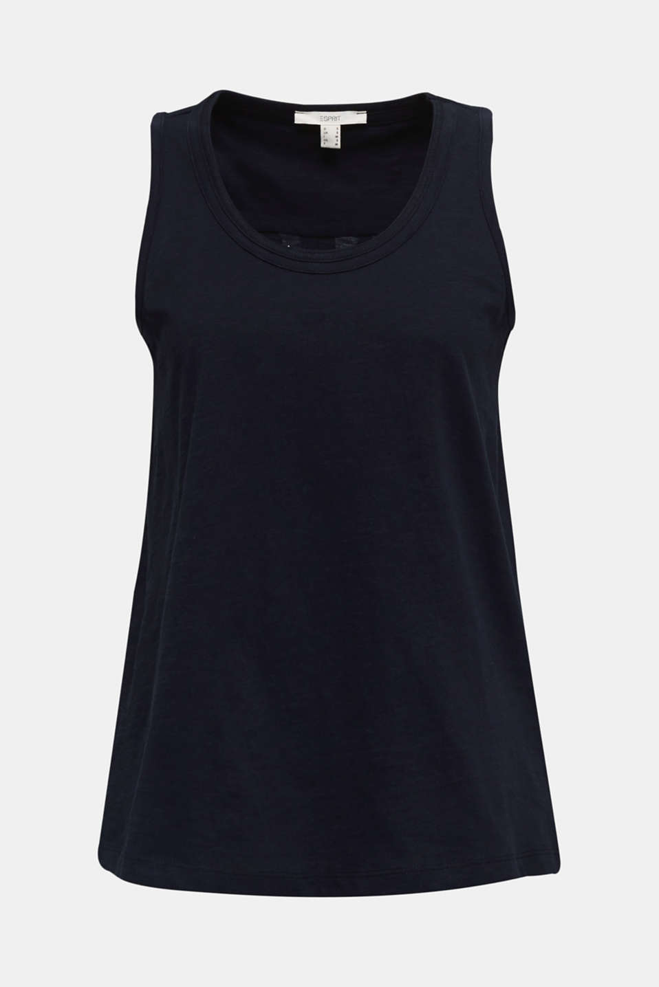 A-line sleeveless top made of 100% organic cotton, BLACK, detail image number 7