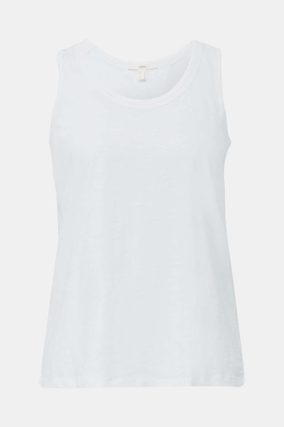 A-line sleeveless top made of 100% organic cotton, WHITE, detail image number 8