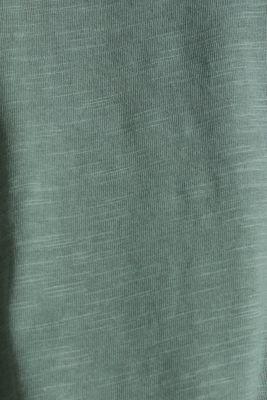 A-line sleeveless top made of 100% organic cotton, KHAKI GREEN, detail