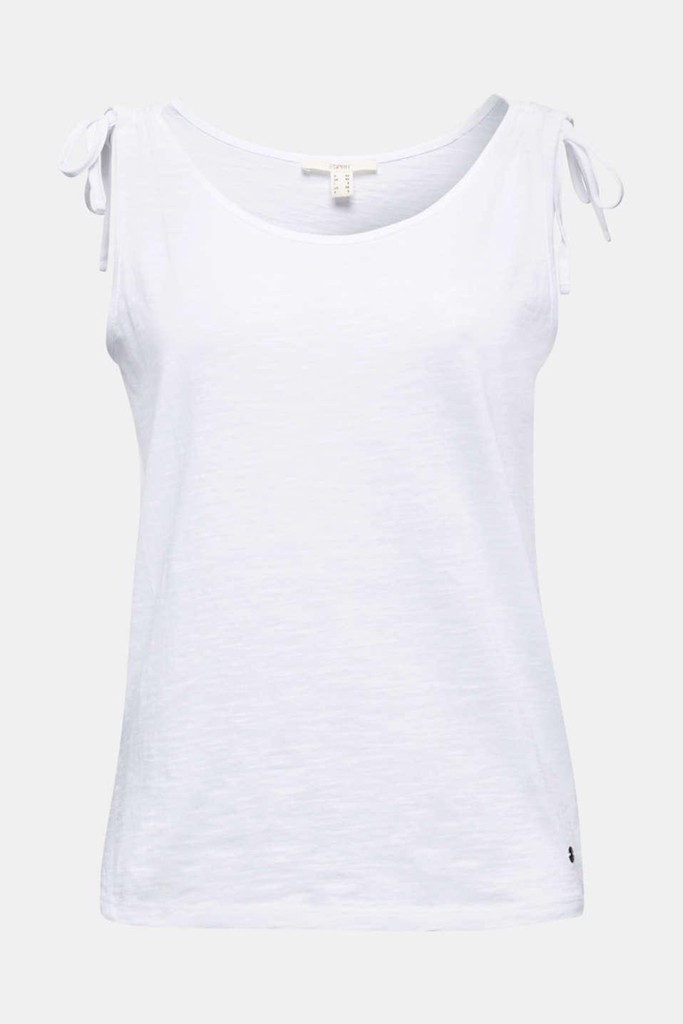 Slub top made of 100% organic cotton, WHITE, detail image number 5