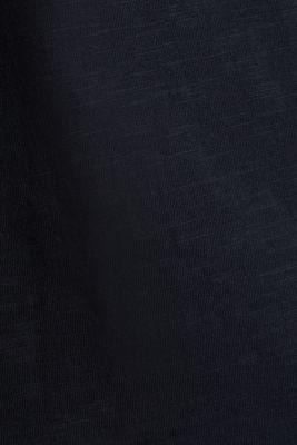 Slub T-shirt with print, 100% organic cotton, BLACK, detail