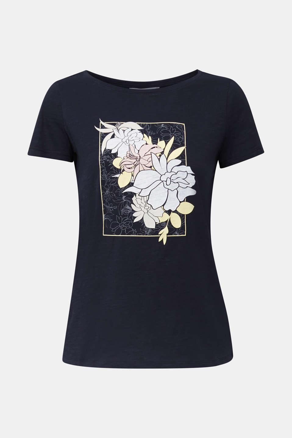 Slub T-shirt with print, 100% organic cotton, BLACK, detail image number 5