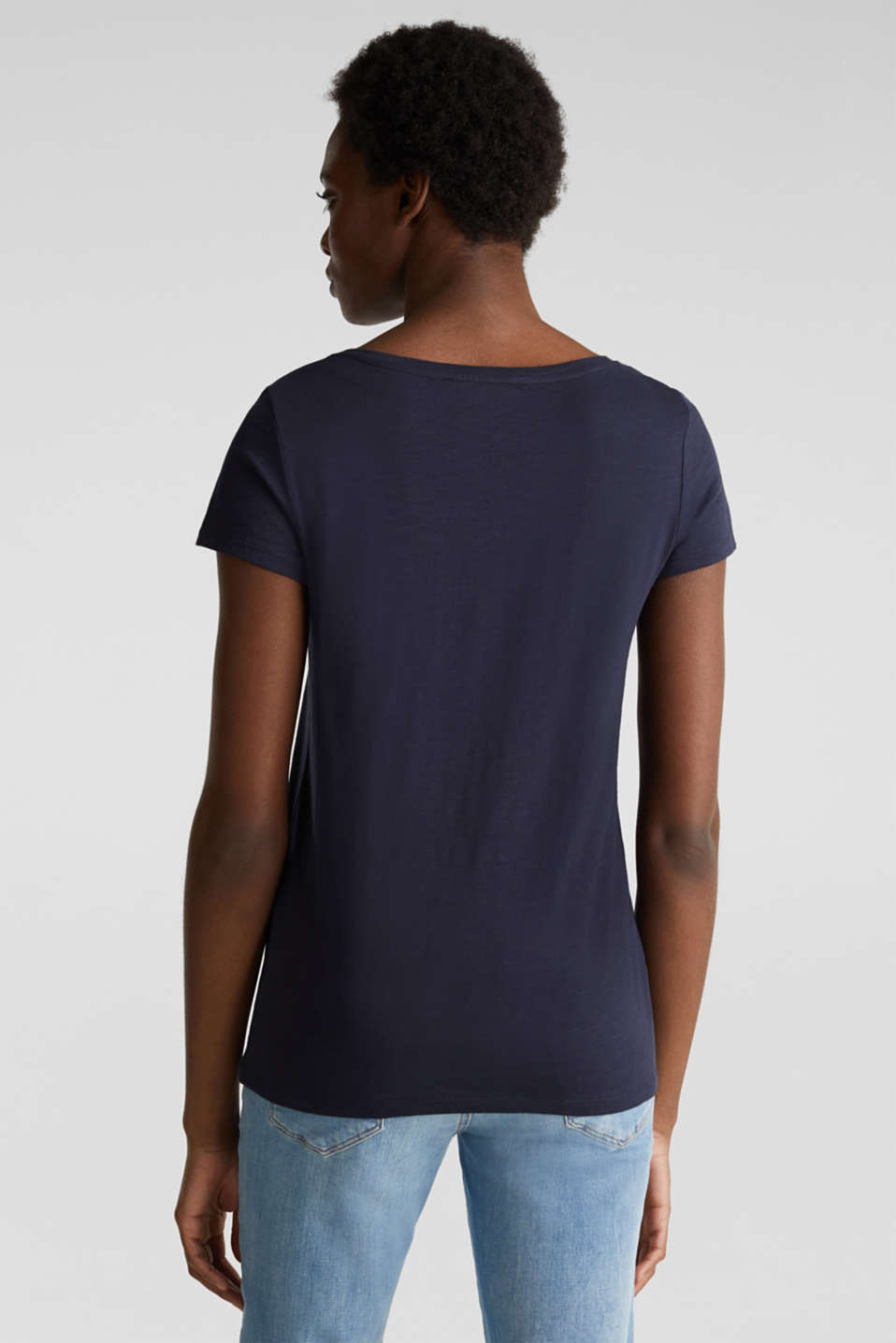 Slub T-shirt with print, 100% organic cotton, NAVY, detail image number 2