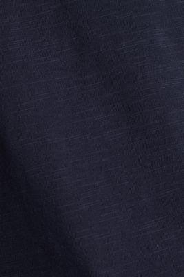 Slub T-shirt with print, 100% organic cotton, NAVY, detail