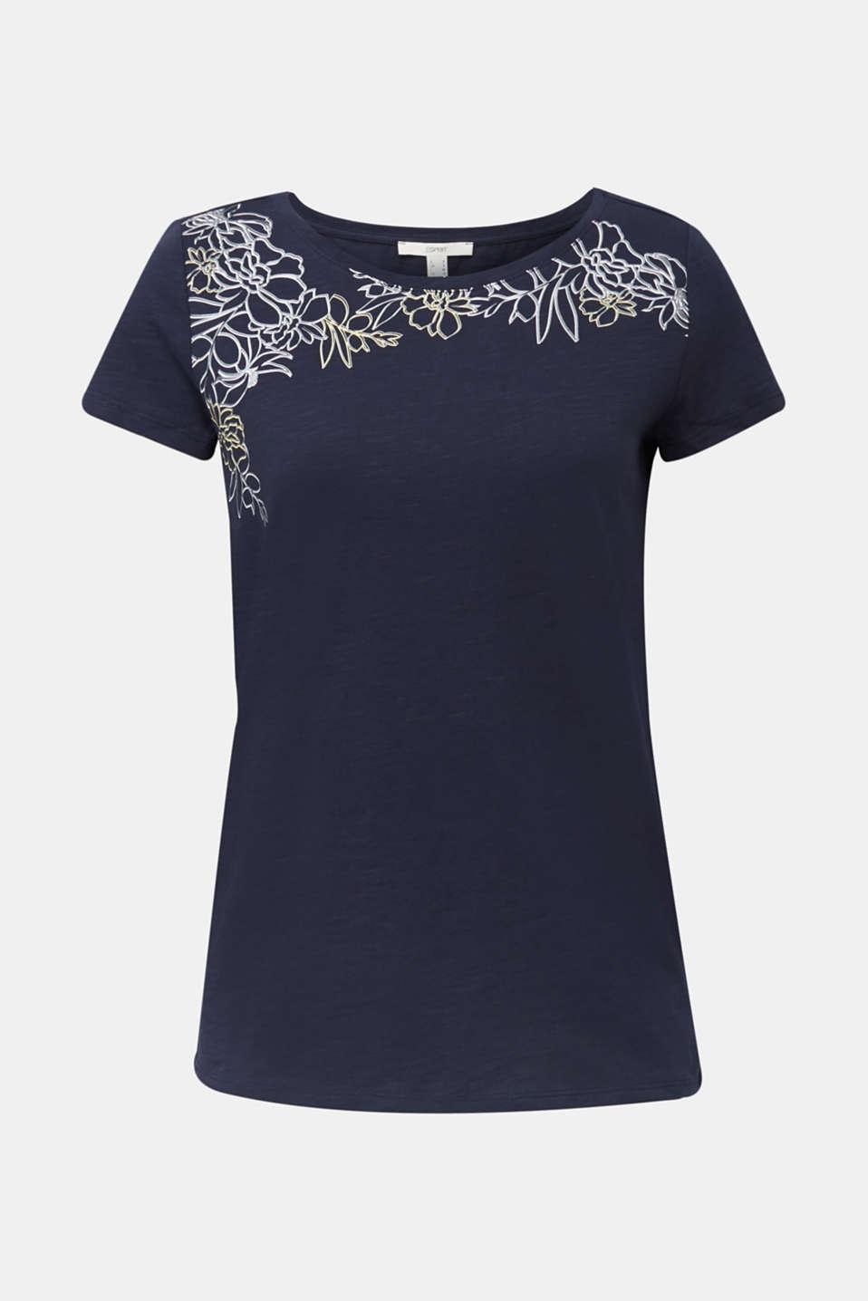 Slub T-shirt with print, 100% organic cotton, NAVY, detail image number 6