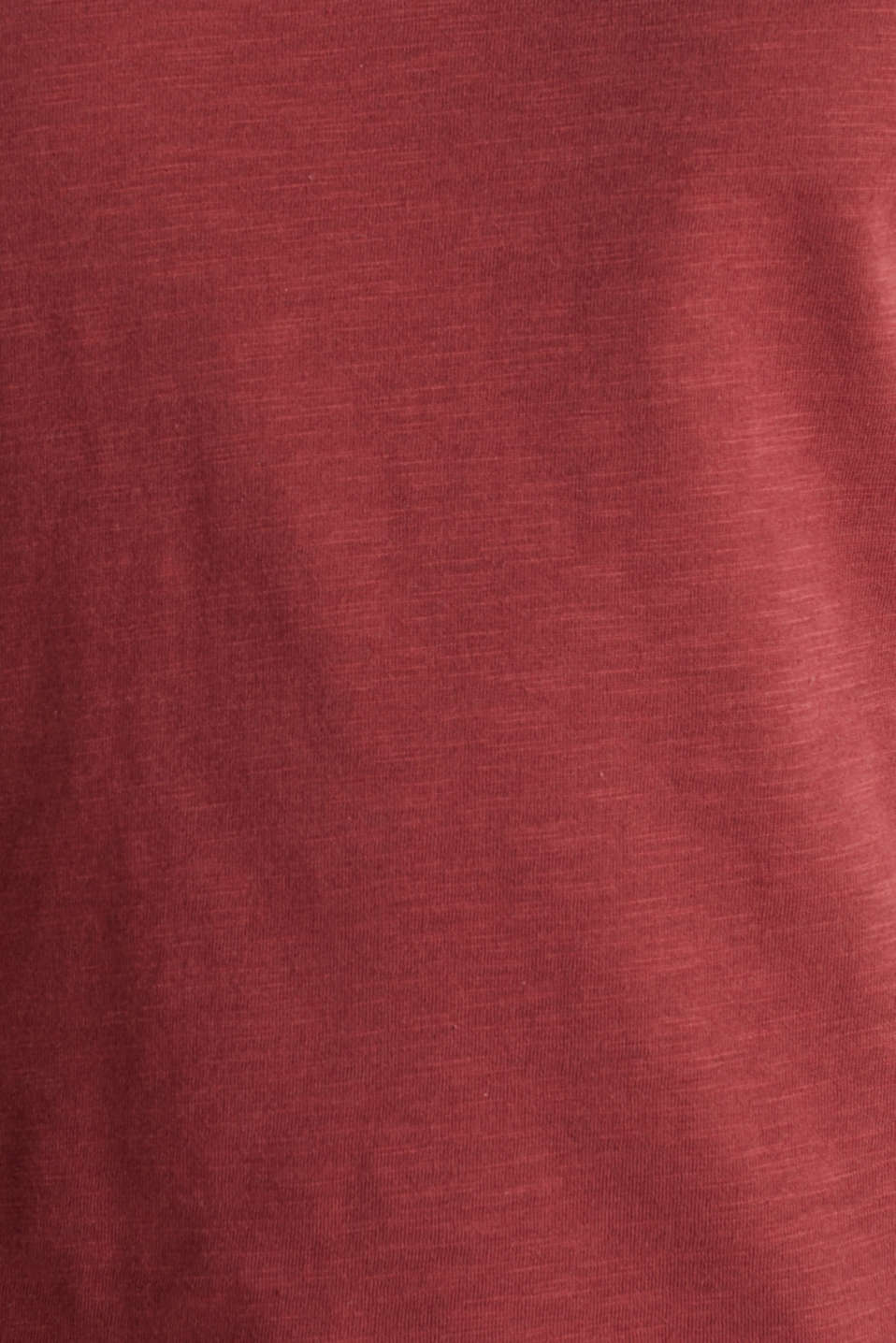 Embroidered top made of organic cotton, DARK RED, detail image number 4