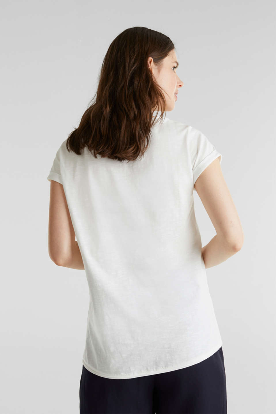 Artwork top made of 100% organic cotton, OFF WHITE, detail image number 2