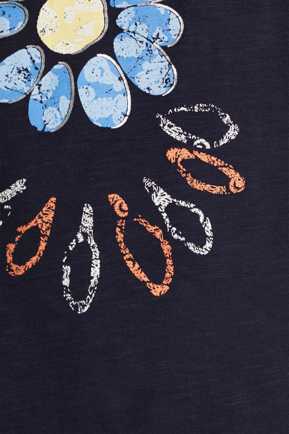 Artwork top made of 100% organic cotton, NAVY, detail image number 4