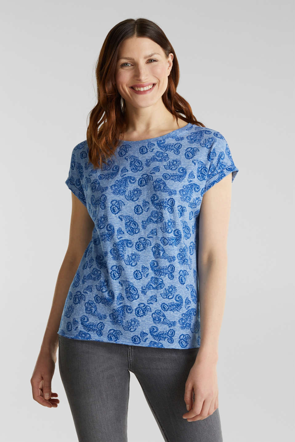Esprit - Burnt-out shirt met print
