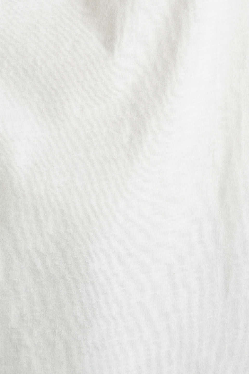 Embroidered top, 100% organic cotton, OFF WHITE, detail image number 3