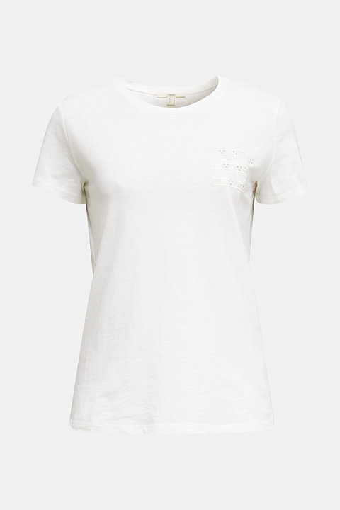 Embroidered tee, 100% organic cotton