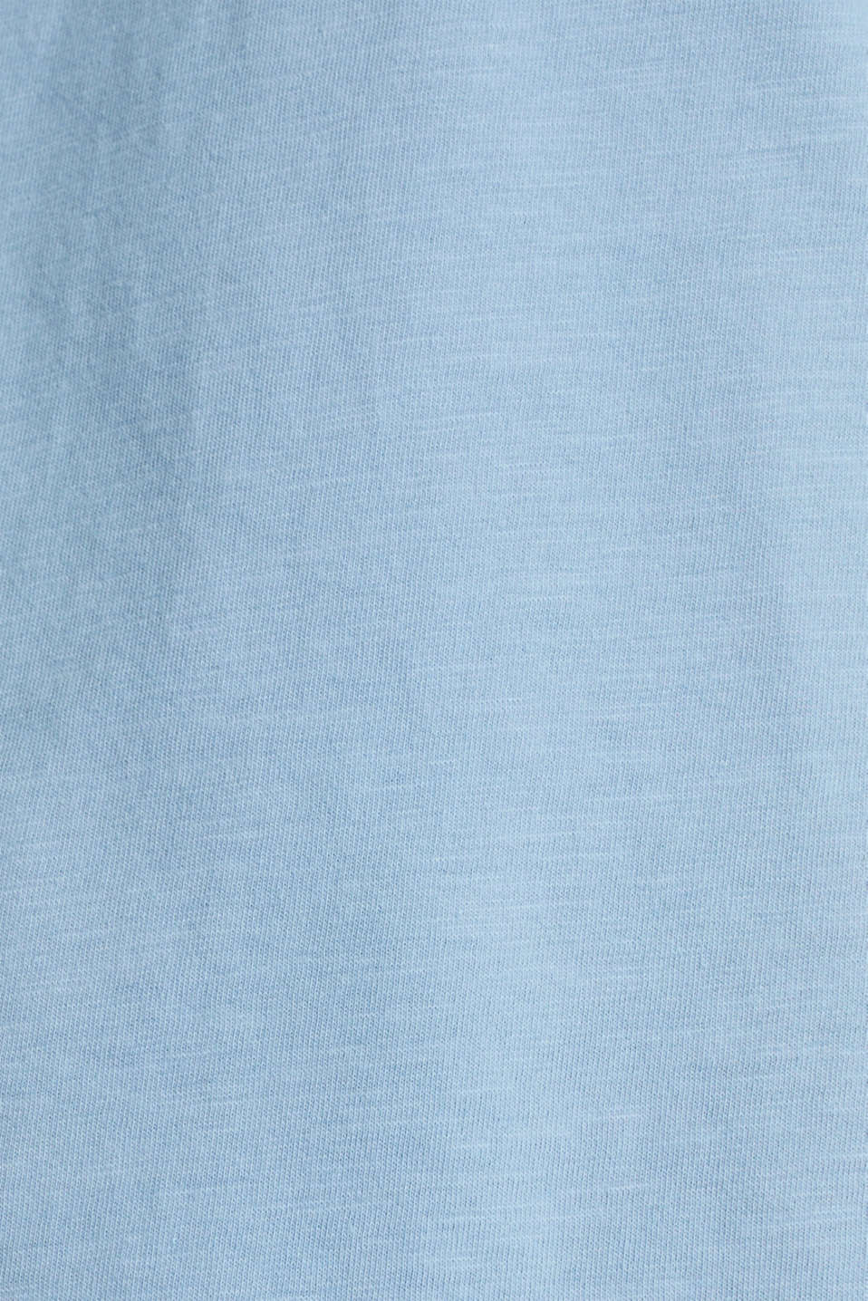 Embroidered tee, 100% organic cotton, LIGHT BLUE, detail image number 4