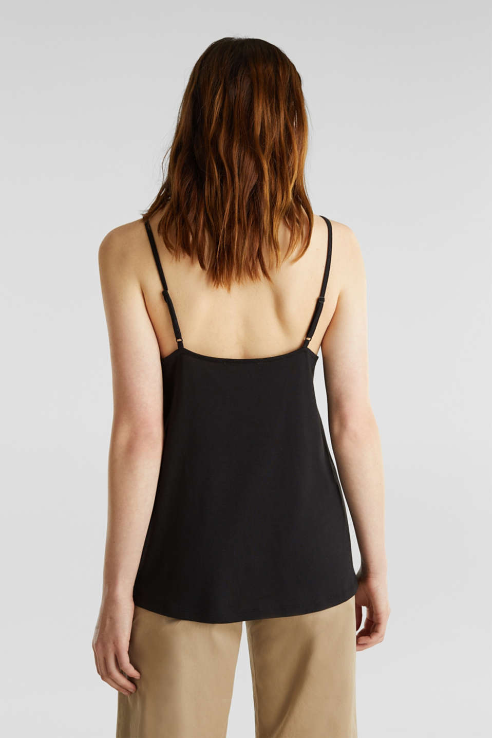 Vest top with lace, BLACK, detail image number 2