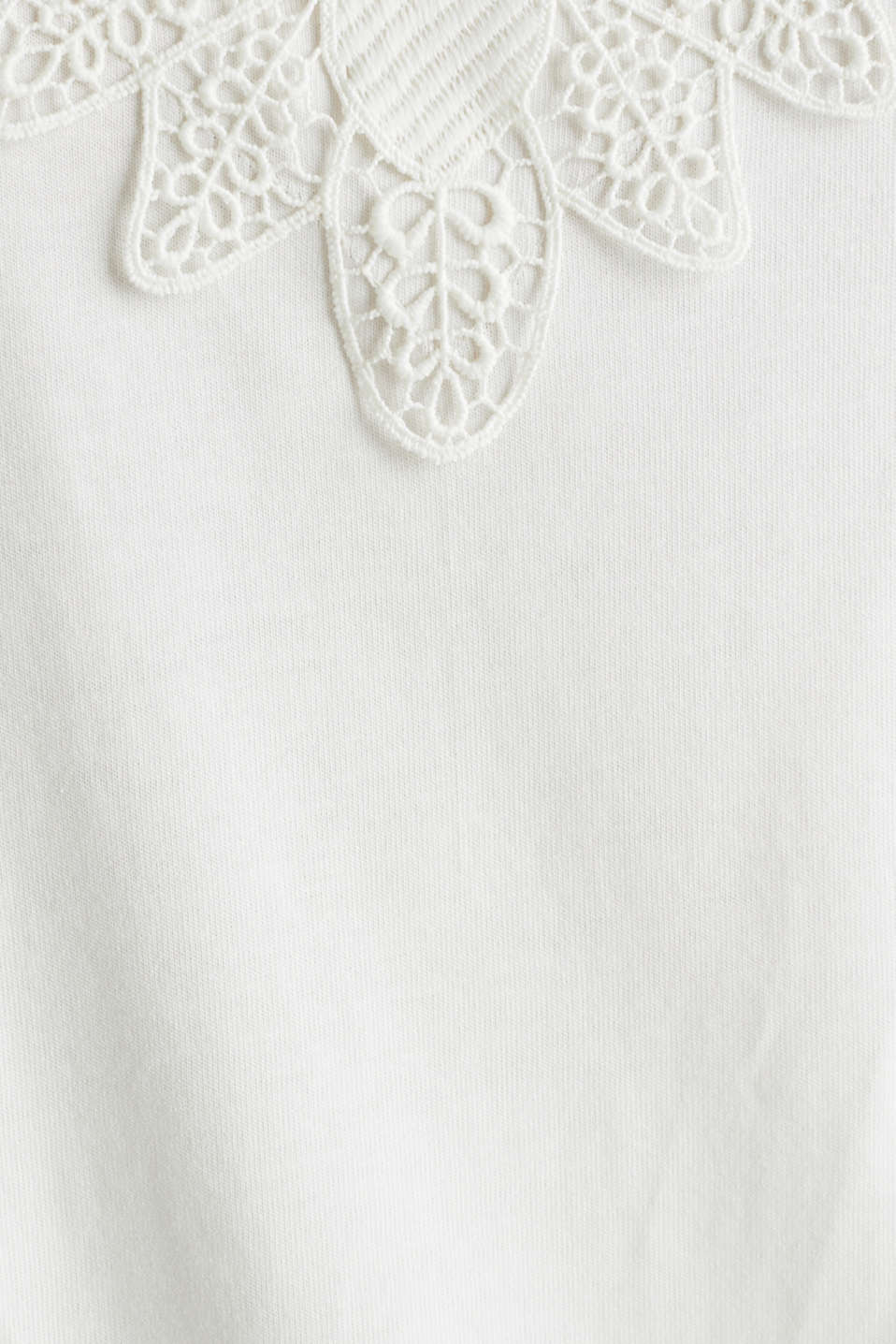 Vest top with lace, OFF WHITE, detail image number 4