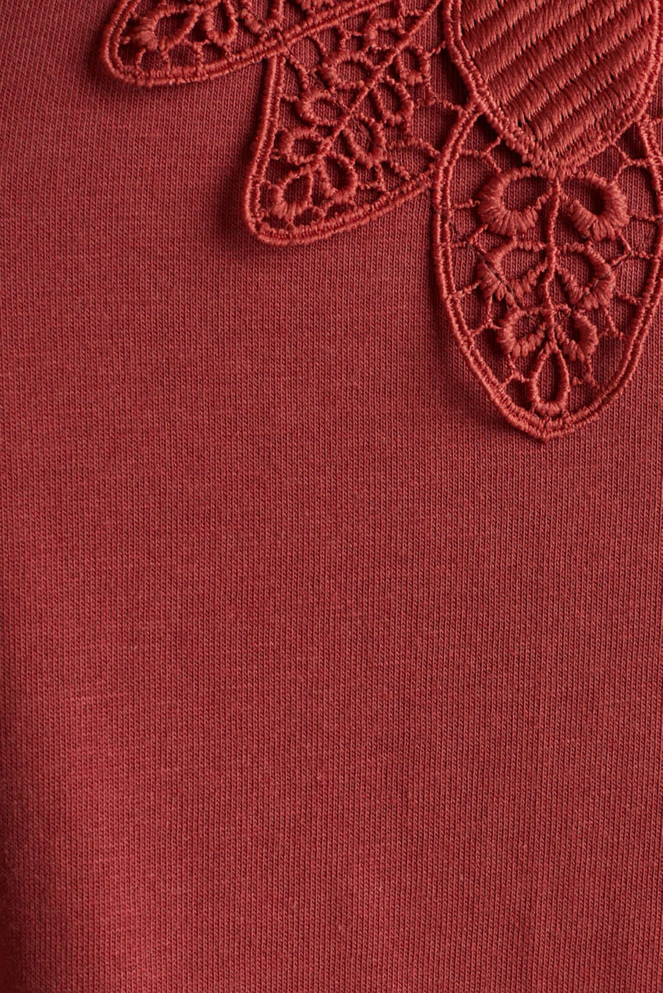 Vest top with lace, DARK RED, detail image number 4