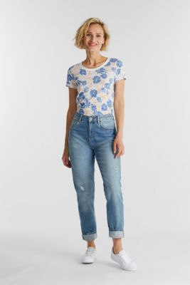 Print top with linen, OFF WHITE 4, detail