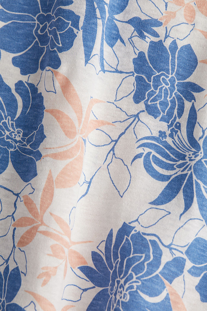 Print-Shirt mit Leinen, OFF WHITE, detail image number 4