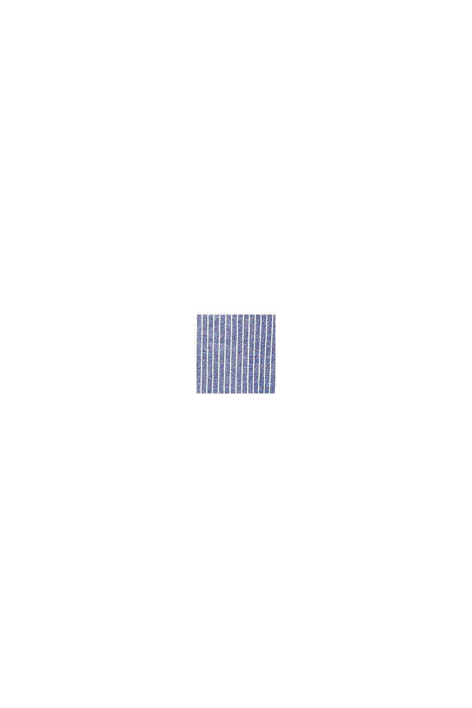Met linnen: jumpsuit met wijde pijpen, DARK BLUE, swatch