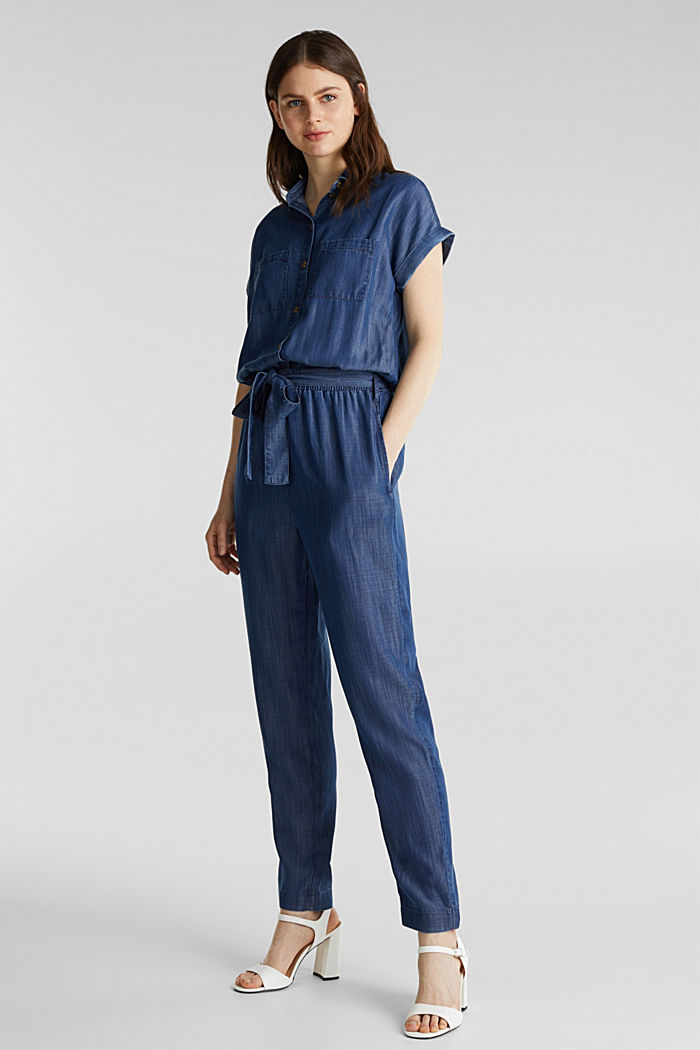 Aus TENCEL™: Denim-Jumpsuit