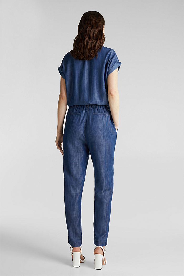 Made of TENCEL™: denim jumpsuit, BLUE DARK WASHED, detail image number 2