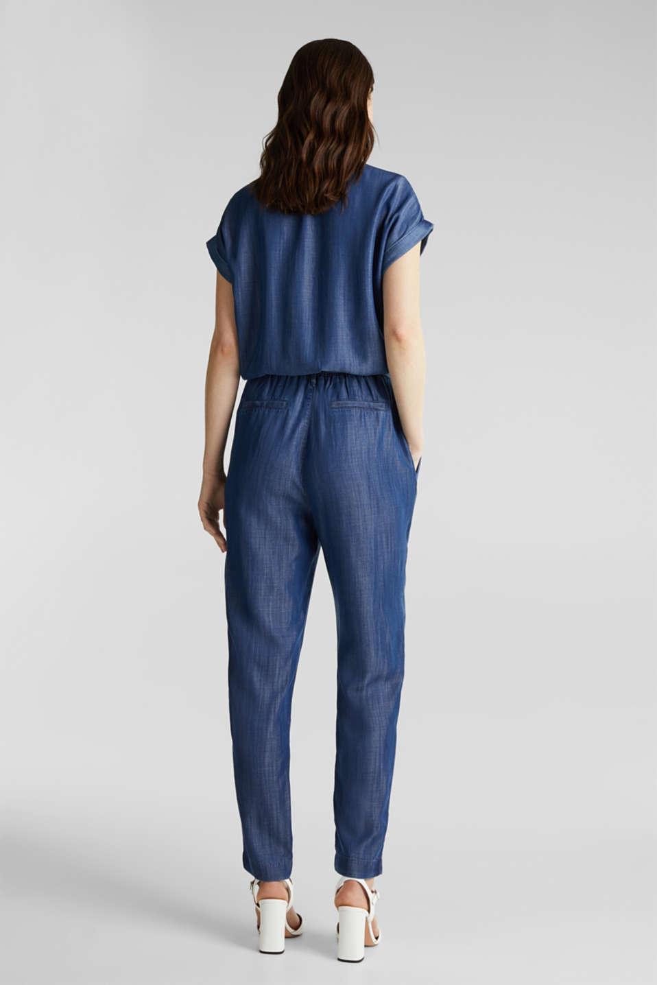 Made of TENCEL™: denim-look jumpsuit, BLUE DARK WASH, detail image number 2