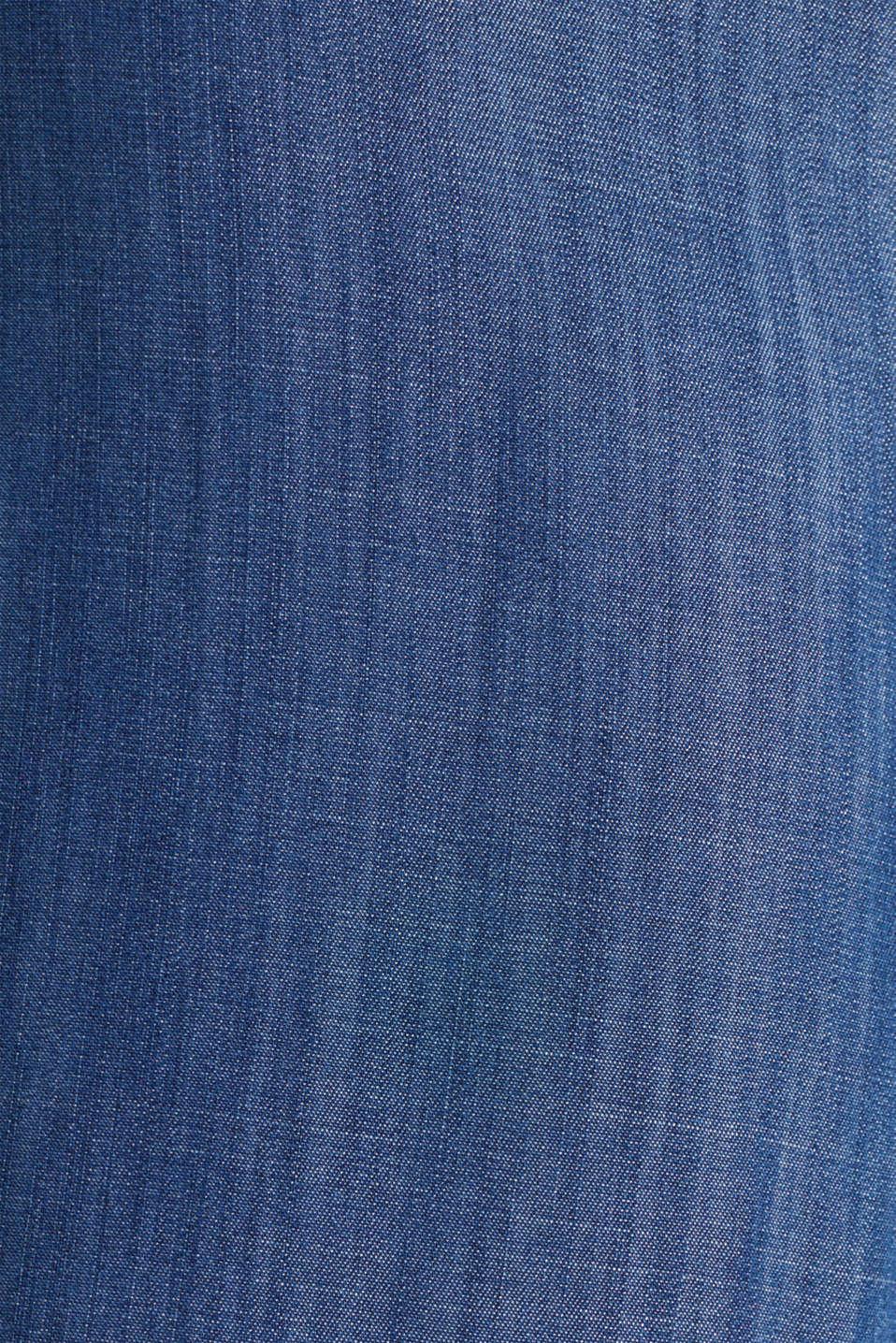Made of TENCEL™: denim-look jumpsuit, BLUE DARK WASH, detail image number 4
