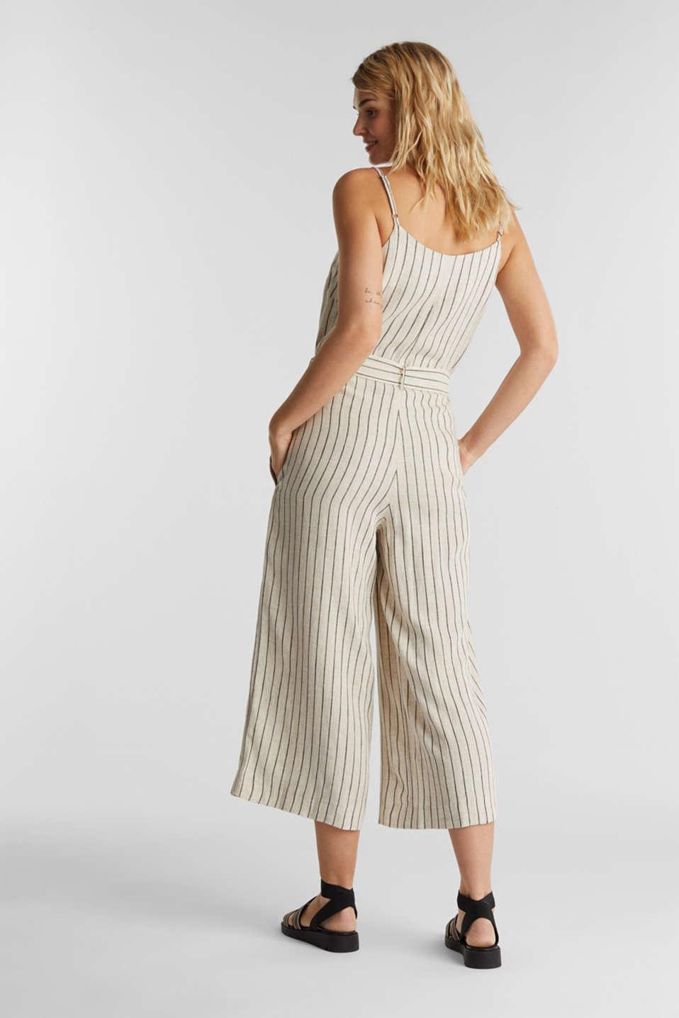 Blended linen jumpsuit, SAND, detail image number 3