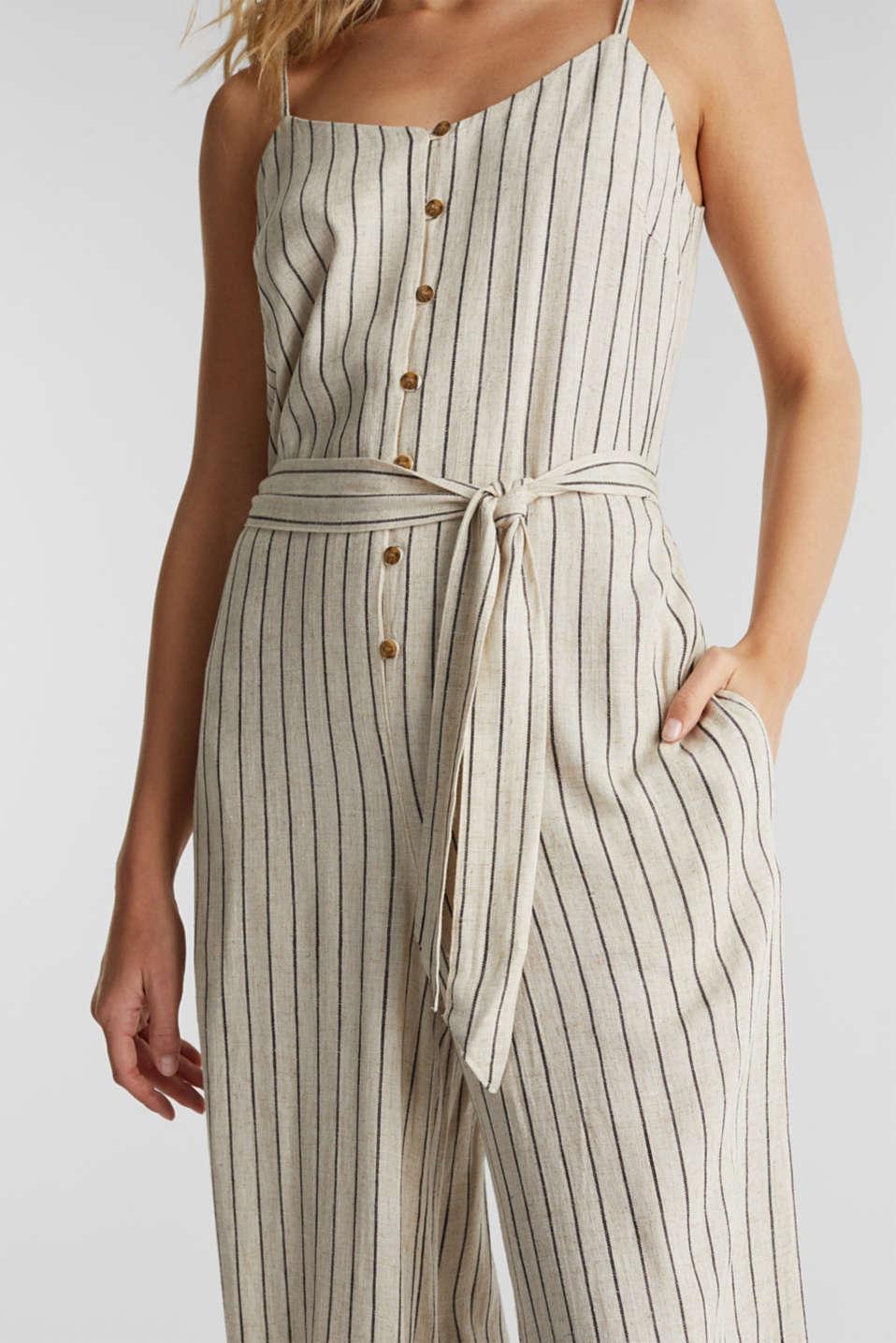 Blended linen jumpsuit, SAND, detail image number 2