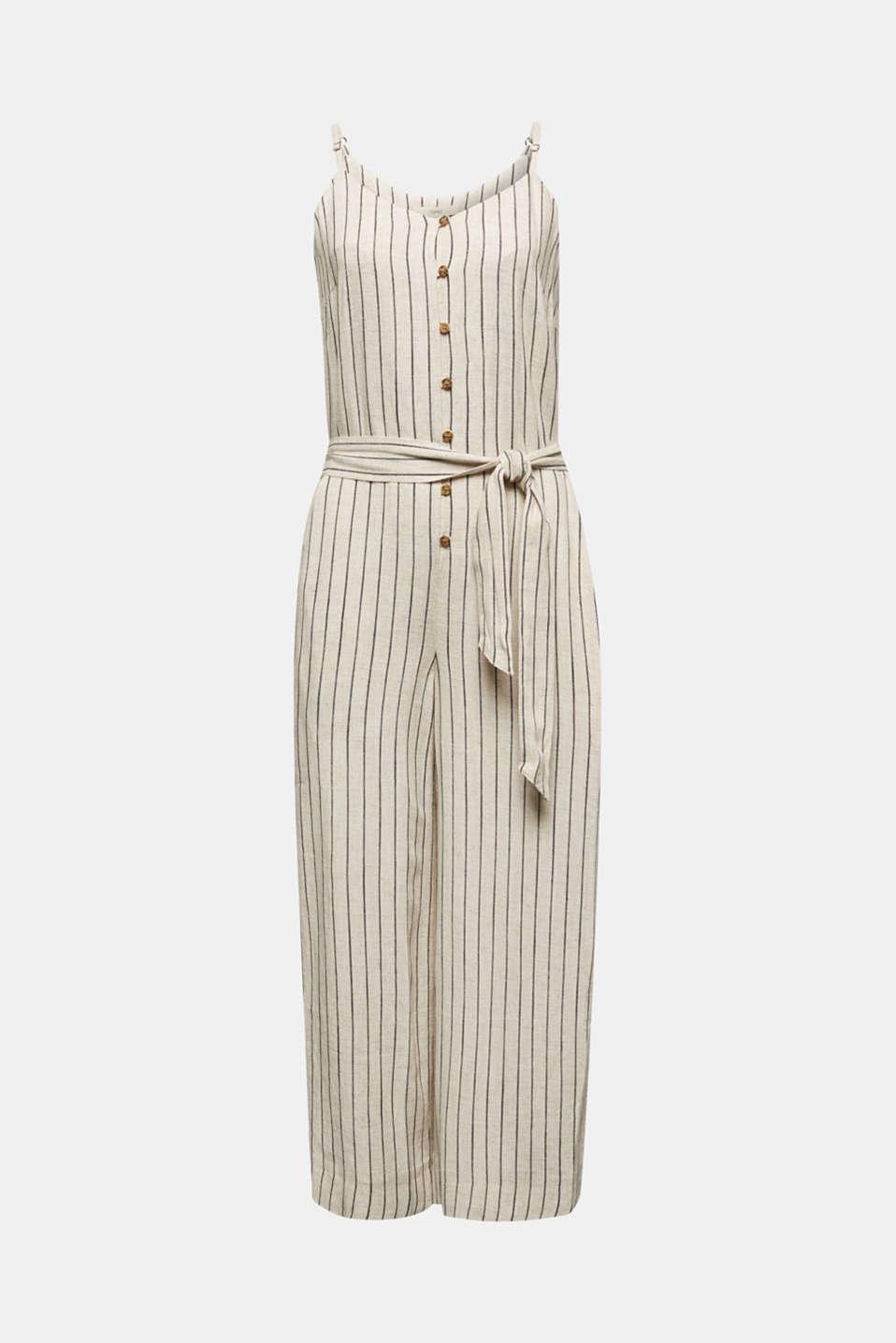 Blended linen jumpsuit, SAND, detail image number 6