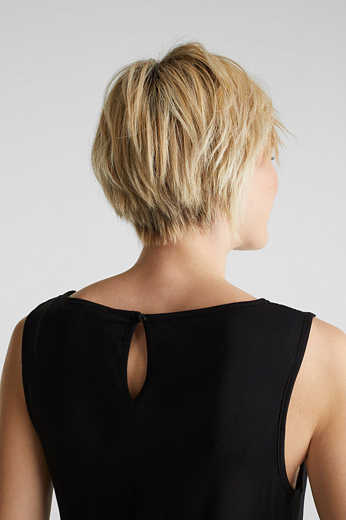 Tuta in jersey con inserto in pizzo, BLACK, detail image number 3