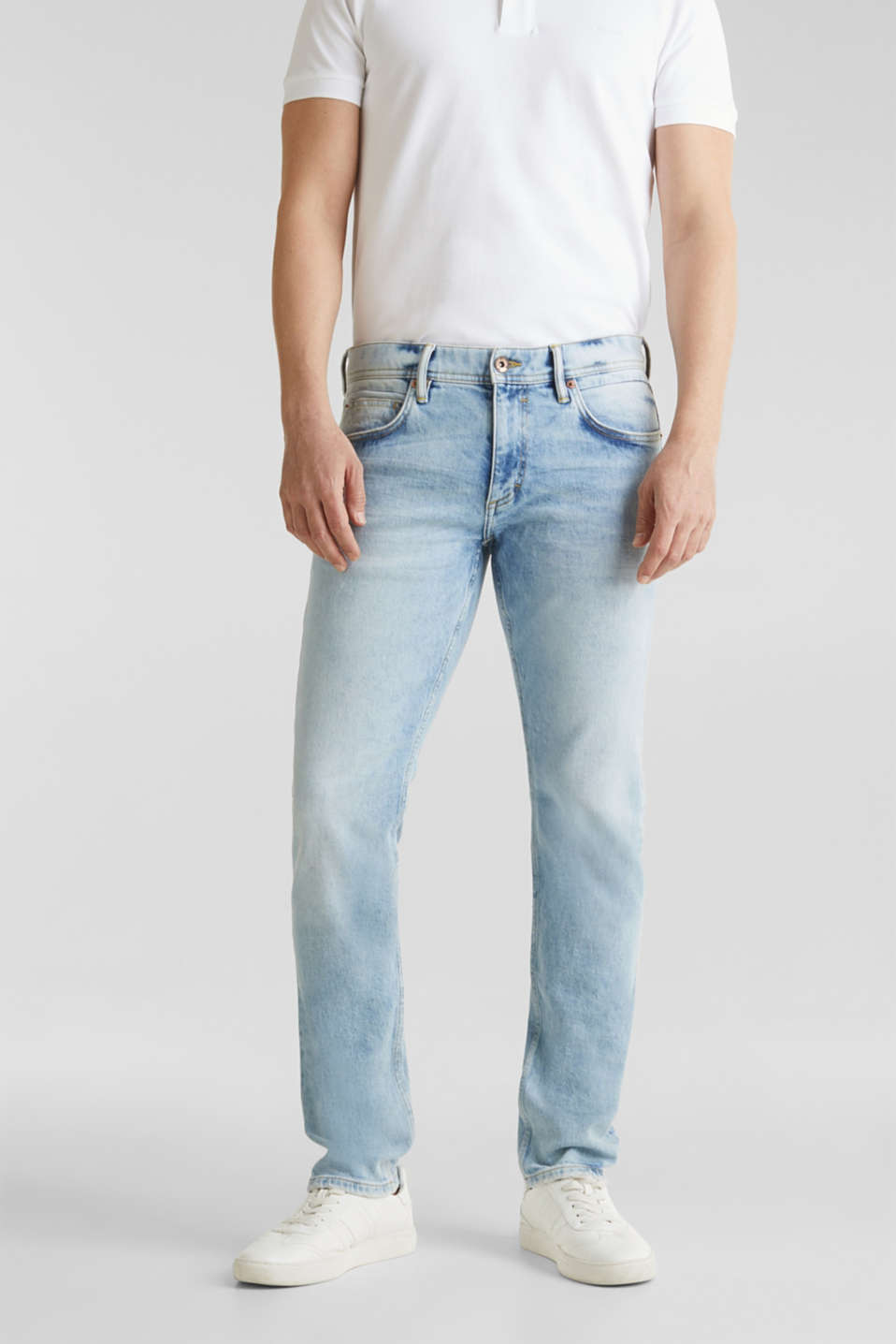 Esprit - Super stretch jeans with a stone wash
