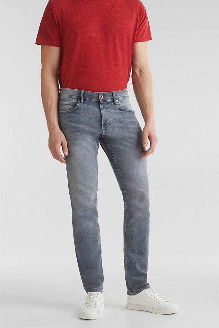 Basic-Jeans mit Organic Cotton, GREY LIGHT WASHED, detail image number 0
