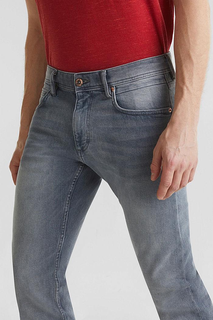 Basic-Jeans mit Organic Cotton, GREY LIGHT WASHED, detail image number 3