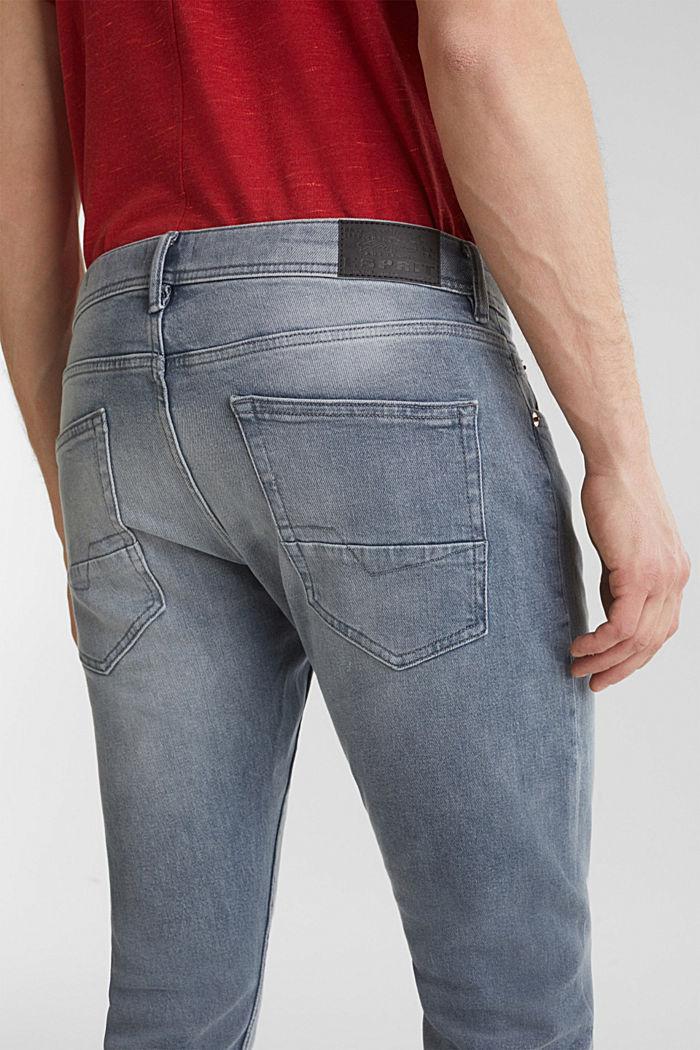 Basic-Jeans mit Organic Cotton, GREY LIGHT WASHED, detail image number 6