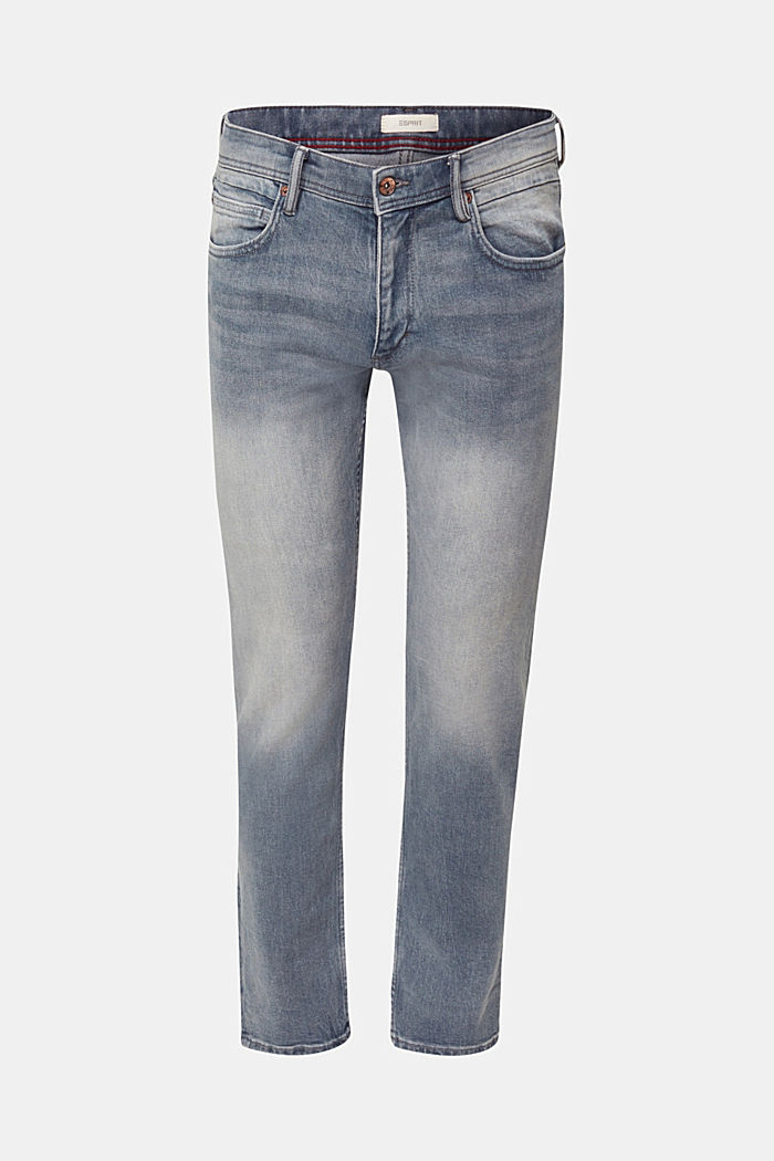 Basic-Jeans mit Organic Cotton, GREY LIGHT WASHED, detail image number 7