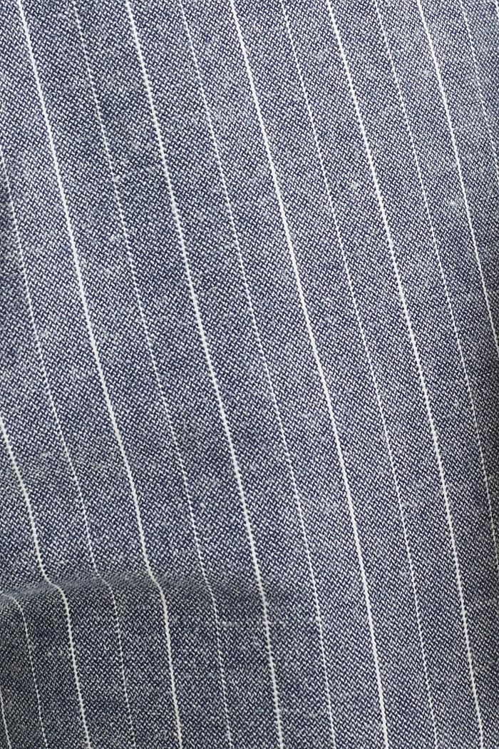 Blended linen: Drawstring trousers, BLUE, detail image number 4