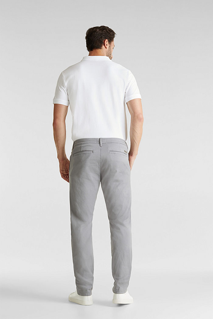 Stretch cotton twill trousers, MEDIUM GREY, detail image number 3
