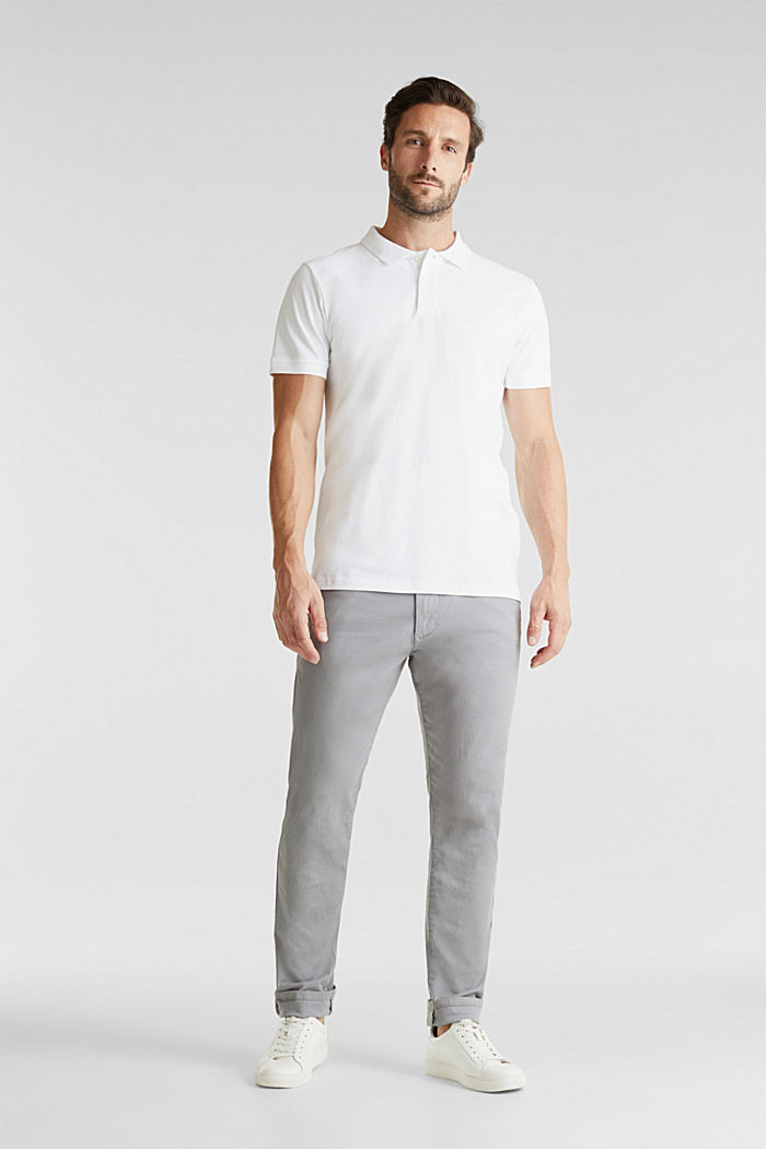 Stretch cotton twill trousers, MEDIUM GREY, detail image number 1